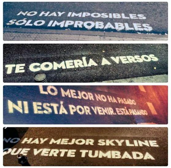 Mensajes calles de Madrid