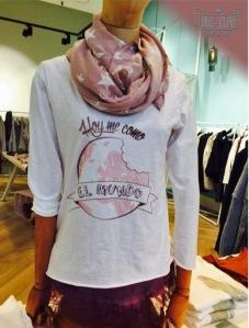 """Camiseta """"Hoy me como el mundo"""""""